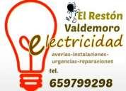 Electricista en el restón-valdemoro. económico. instalaciones, reparaciones y urgencias