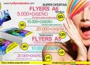 Flyers tarjetas e impresiones con diseños baratos