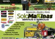 Machine repairs. garden, agric, forest, building. solomakinas