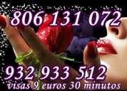 Tarot visa económico 5euros 15 mtos. 806-131-072 solo 0,42cm