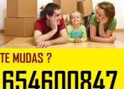 Transportes + mozos(65x46)oo847 mudanzas baratas en aluche