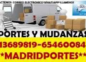 Furgon con operarios(65)46:008+47 mudanzas pequeÑas baratas madrid
