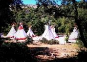 Excelente campamento de tipis nativos en alquiler, palencia