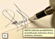 Perito judicial calígrafo, grafólogo