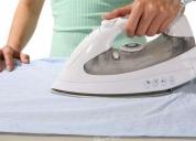 limpieza de su hogar , plancha de ropa