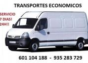 Servicio profesional en transportes y mudanzas.