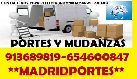 MUDANZAS HOGARES 6.54(6OO8)47 PORTES EN POZUELO DE ALARCON