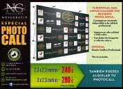 Photocall publicitario especial