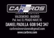 Equipo de varilleros sacabollos Madrid