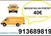 FLETES URGENTES 40€(65//46OO847)PORTES ALCOBENDAS