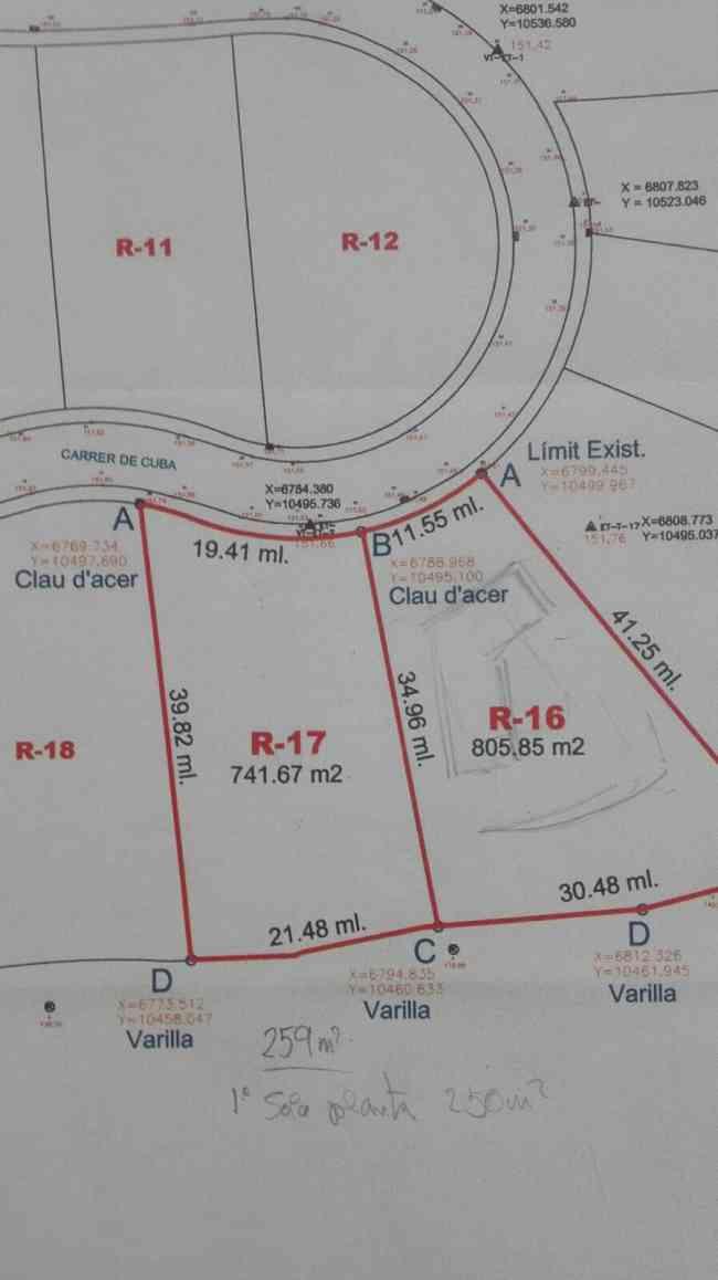 vendo parcela de terreno a muy buen precio en Vista Alegre - Can Palet