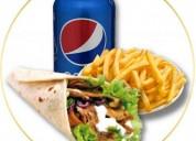 Pollo frito, hamburguesas, esto y mucho mas te lo podemos llevar a domicilio