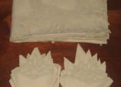 Mantel de algodon en color crema