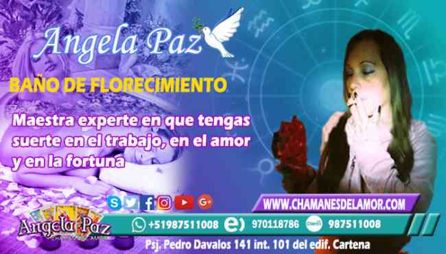 BAÑO DE FLORECIMIENTO ANGELA PAZ