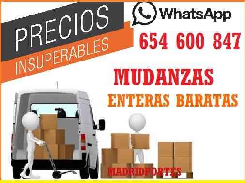 MUDANZAS•MADRIDPORTES#BARATAS EN PINTO D3SD3: 145EUROS