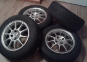 Excelente llantas de aluminio de 14 con ruedas brigestone