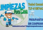 servicios de limpiezas punta cana en zaragoza,contactarse.