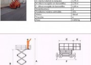 Excelente plataforma elevadora tijera diesel 12m 330 crt, benifaió