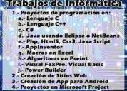 Servicio de programación, software