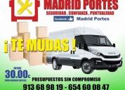 Mini portes y mudanzas en barajas 91//3689819 flete:30€