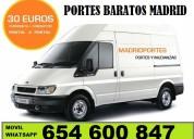 Portes en centro-madrid*6546//00847*asignamos vehiculo adecuado