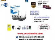 Oferta kit de videovigilancia ip wifi hd autoinstalable.
