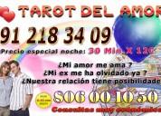 Tarot del amor 30 min 12€ 91 218 34 09