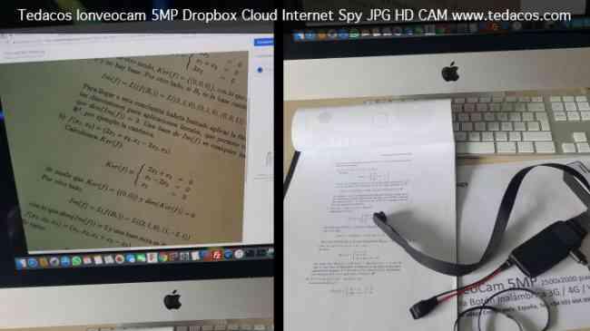 CAMARA HD BOTON OCULTA ESPIA DOCUMENTOS VISION REMOTA DROPBOX EXAMENES