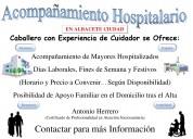 Acompañamientos hospitalarios de mayores