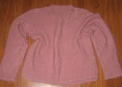 Chaqueta artesanal color rosa palo