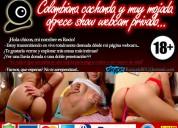Colombiana cachonda, muy mojada ofrece show webcam