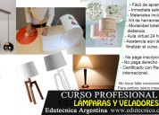Curso de lámparas y veladores con materiales
