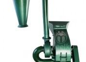 Molino triturador meelko de biomasa a martillo 360