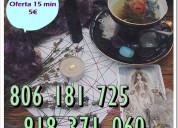 Tarot oferta economica visa 15 min 5€. tarot 806 0