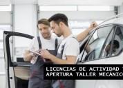 Licencias de actividad y apertura taller.