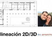 Delinear planos 2d y 3d barcelona