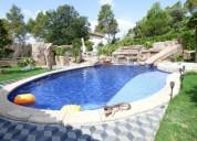 Espectacular chalet en venta de 6 habitaciones con garaje gimnasio y piscina en castellnou 241.00 m2