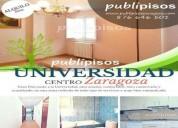 piso en alquiler centro universidad zaragoza 3 dormitorios 74.00 m2