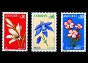 Cambio 3x1 sellos de andorra, francia y mónaco
