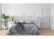 Cabecero adhesivo pavo real cama doble