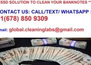 *** solución de limpieza ssd para billetes ***