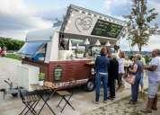 Food caravan vintage churreria creperia terrassa