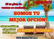 ¡ofertas verano! transportes baratos madrid