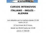 Cursos intensivos de aleman - italiano o ingles
