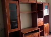 Mueble modular para salon color cerezo