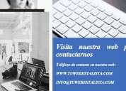 Creacion de paginas web a negocios o particulares .