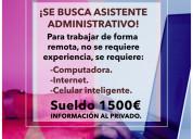 Asistente administrativo mc