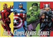 Pancarta-cartel cumpleaños vengadores estilo cómic