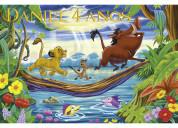 Pancarta-cartel cumpleaños rey león