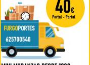 (*portes legazpi) :625+700540 transporte de mueble